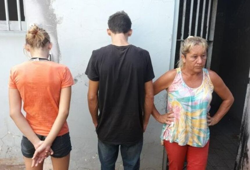 O trio morava em Nova Alvorada do Sul mas foram encaminhados para Rio Brilhante, cidade onde houve o crime. (Foto: Olimar Gamarra)