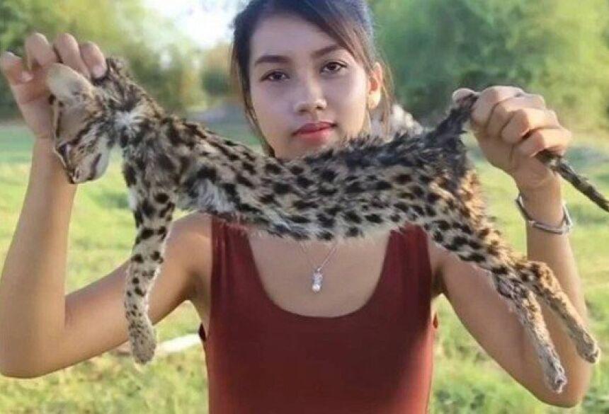 Ah Lin Tuch e um gato ameaçado de extinção Foto: Reprodução/YouTube