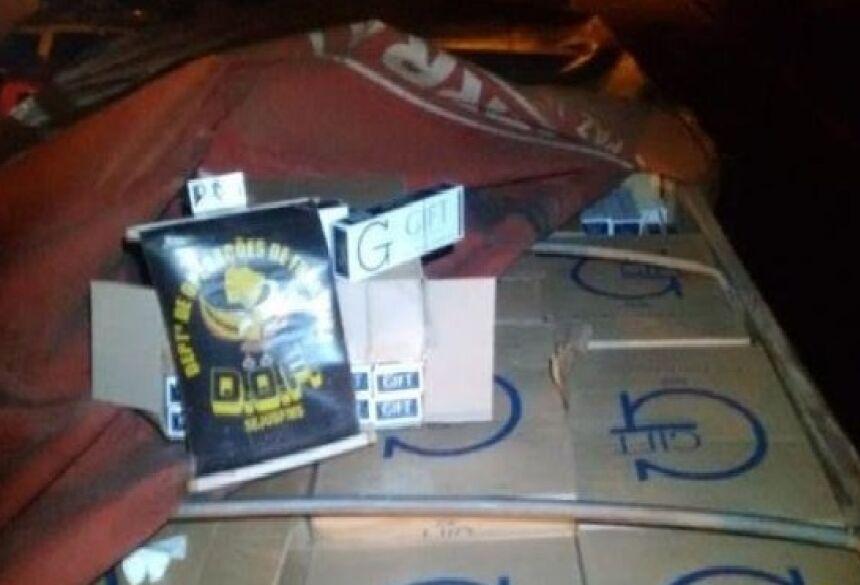 DOF prende dois com 45 mil pacotes de cigarro contrabandeado em Deodápolis