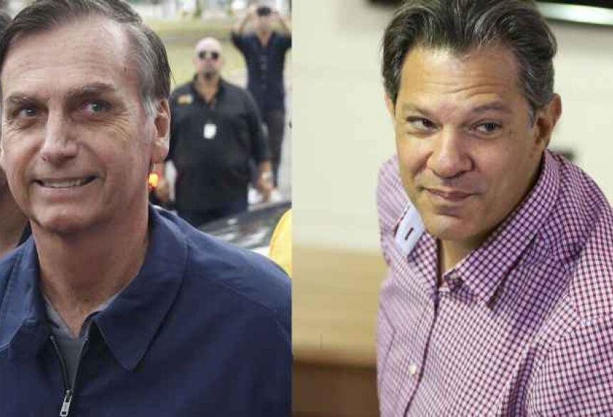 Candidatos à Presidência Jair Bolsonaro (PSL) e Fernando Haddad (PT). - Reprodução/Tânia Regô / Marcelo Camargo / Agência Brasil