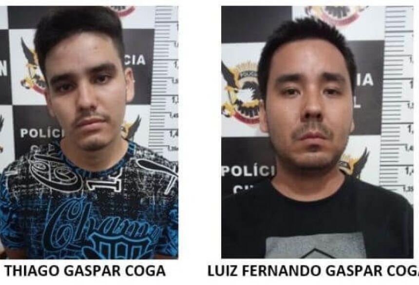 Irmãos foram presos por tráfico de drogas e associação ao tráfico, segundo a polícia (Foto: 94FM)