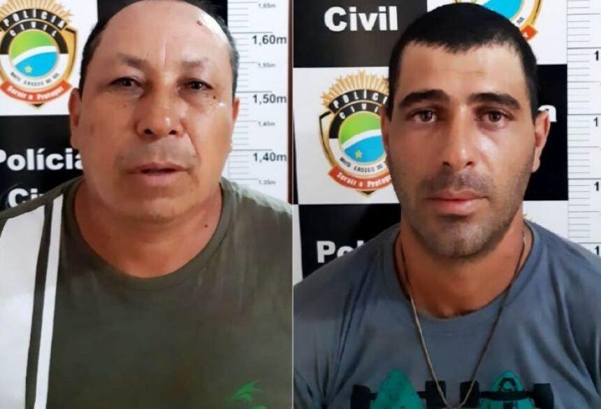 Ivo Campos dos Santos, de 51 anos e Diogo Mendonça da Silva de 26 anos foram presos pelo DOF (Foto: DOF)