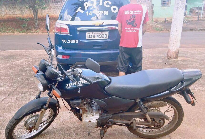 Moto é roubada em pátio de Igreja e Força Tática recupera em seguida em Fátima do Sul