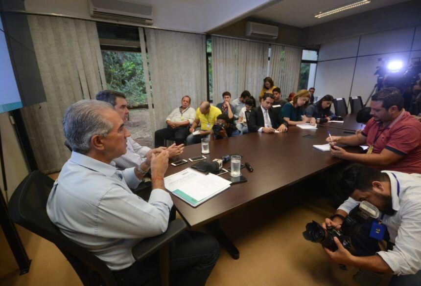 Governador anunciou novo secretariado depois de oficializar reforma administrativa - Foto: Bruno Henrique/Correio do Estado