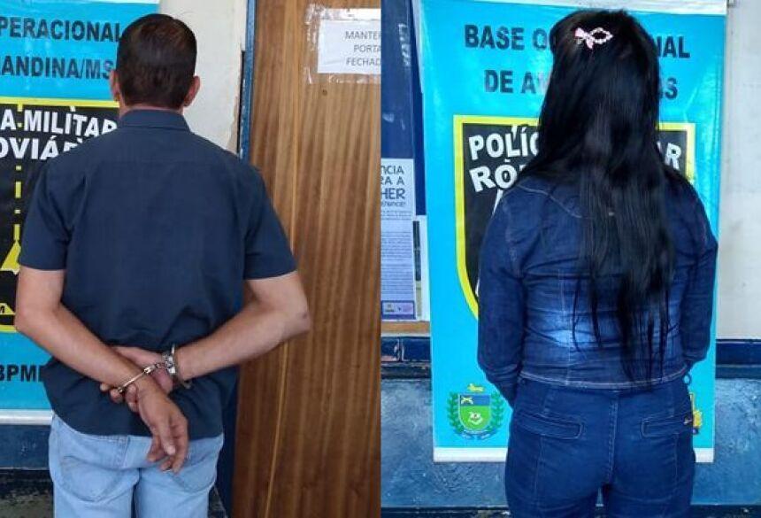 Casal foi preso pela PMR de Amandina