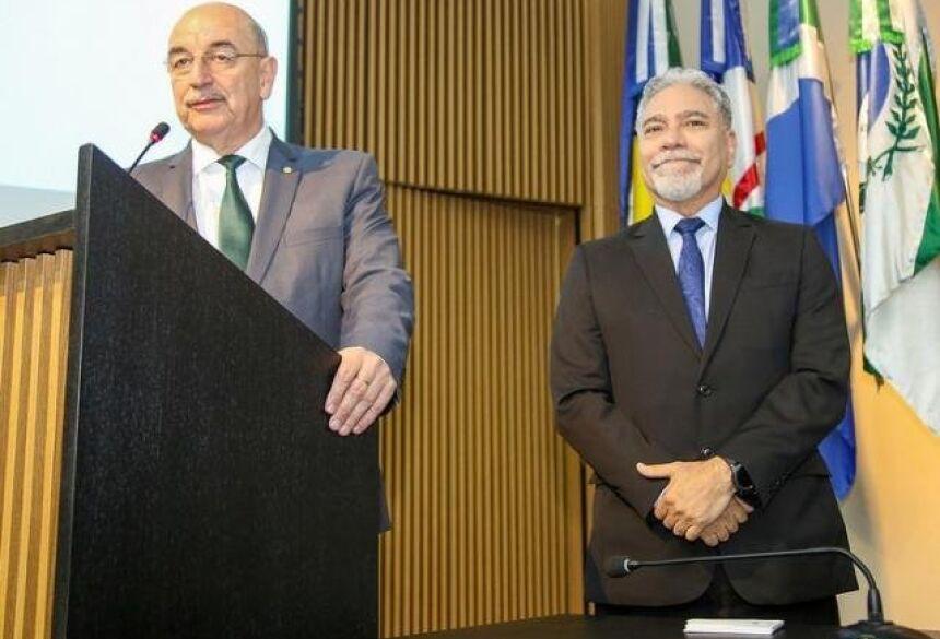 Ministro Osmar Terra e o secretário de Esporte Marco Aurélio (Foto: Divulgação)