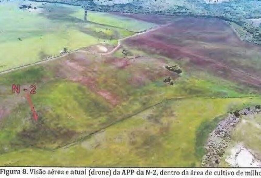 Foto mostra área desmatada para plantação de milho. (Foto: Inquérito/Reprodução)
