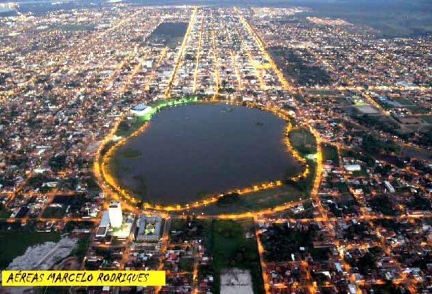 Vista aérea da cidade de 3 Lagoas (Imagem google)