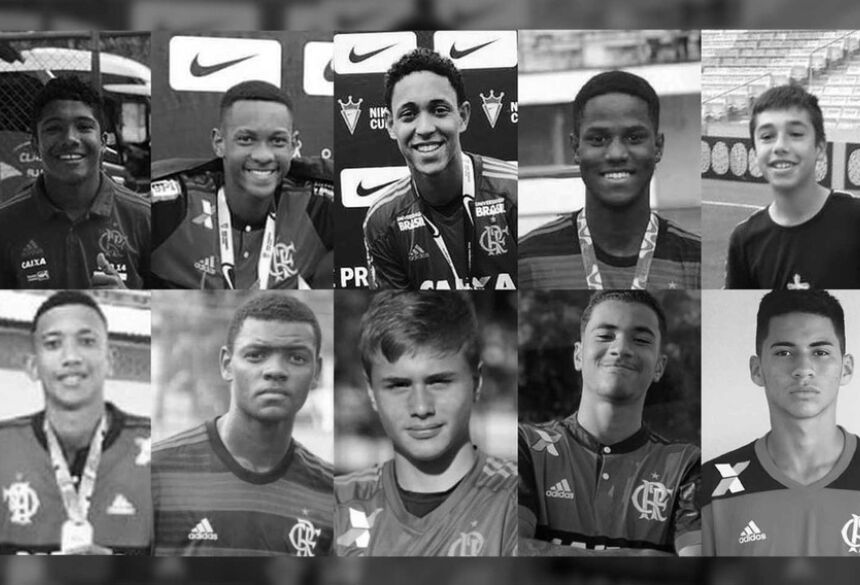 Quem são os 10 garotos mortos no incêndio do CT do Flamengo — Foto: Arte/G1