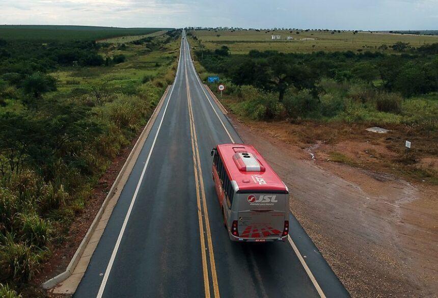 MS-395: asfalto de qualidade entre Bataguassu e Brasilândia. Foto: Edemir Rodrigues