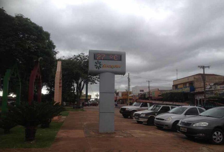 Tempo nublado em Fátima do Sul com temperatura de 27º (AdeLuz)