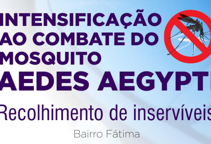 Secretaria de Saude de Fátima do Sul esta trabalhando no combate ao mosquito da dengue