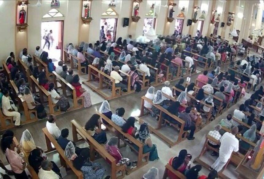 Vídeo mostra suspeito em igreja de Negombo Foto: REUTERS TV / REUTERS