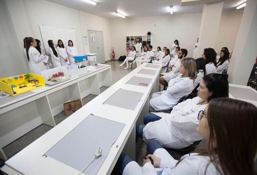 Alunos do 1º semestre de Fisioterapia participaram de com utilização de metodologias ativas