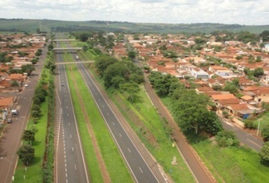 Vista de Aramina, cidade do sortudo da Mega Sena