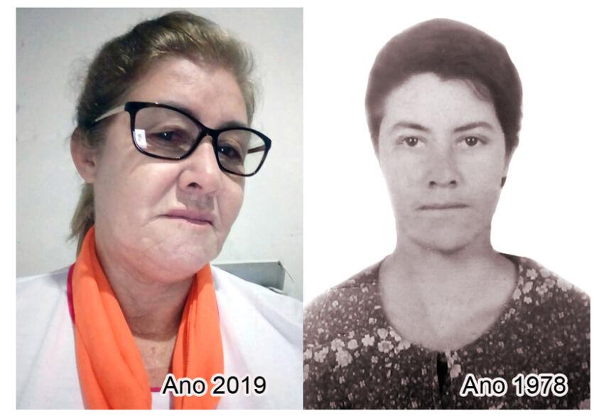 Cenir Rodrigues antes e agora (imagem reprodução)