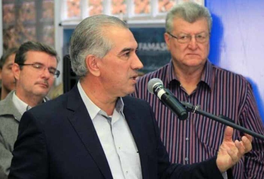 Governador discursando em evento na Famasul
