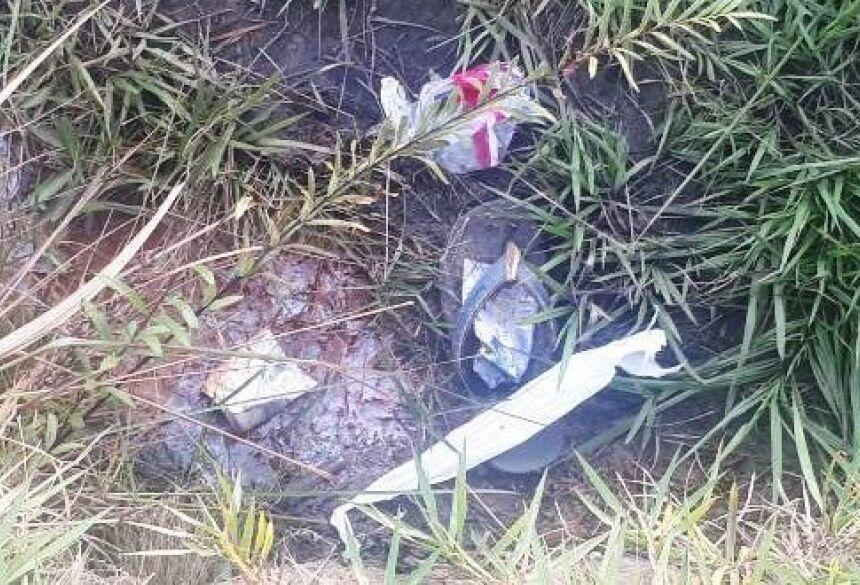 Primeiro corpo foi localizado às 10h deste domingo. (Foto: Porã News)