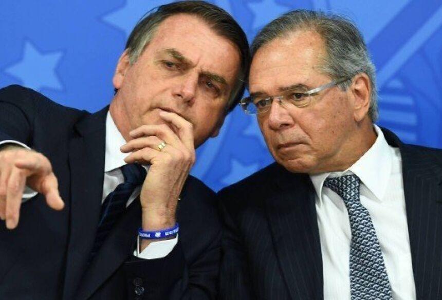 Presidente Jair Bolsonaro e o Ministro Paulo Guedes Foto: EVARISTO SA / STF