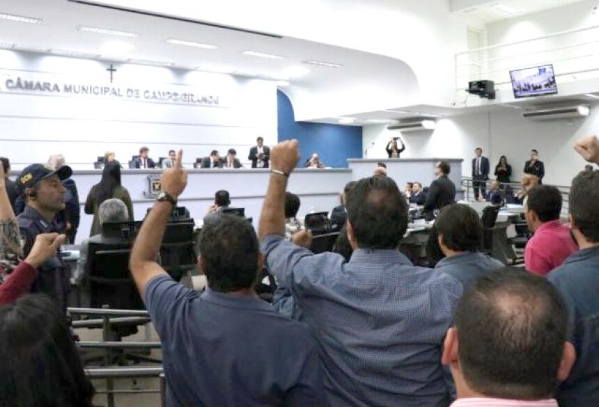 Vereadores aprovaram projeto da reforma na Câmara Municipal (Foto: Henrique Kawaminami)