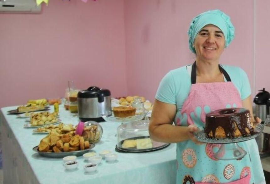 Sabrina resolveu investir no sonho e abriu a cafeteria ao lado do marido.