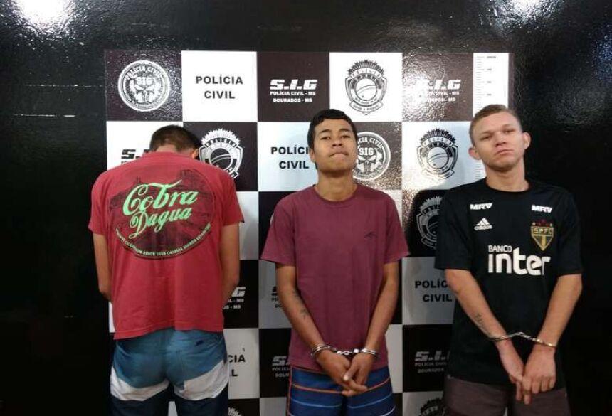 Matheus, Ryan e Jhonatan foram apresentados nesta manhã - Crédito: Osvaldo Duarte/Dourados News