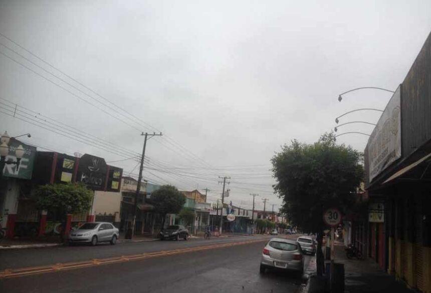 Manhã com o tempo nublado em Fátima do Sul e possibilidade de chover 10 mm (AdeLuz).