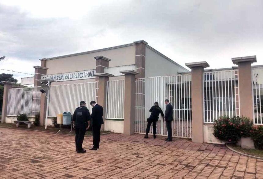 Gaeco na Câmara Municipal de Brasilândia - Foto: Divulgação