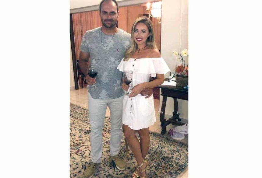 Eduardo Bolsonaro e Heloísa Wolf Foto: Reprodução/Instagram