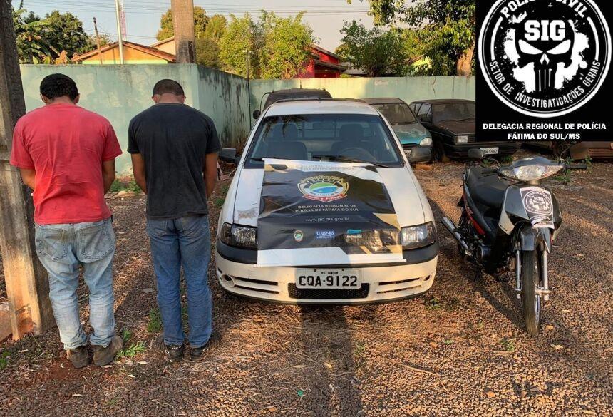 Polícia Civil prende dois e recupera moto roubada em área central de Fátima do Sul