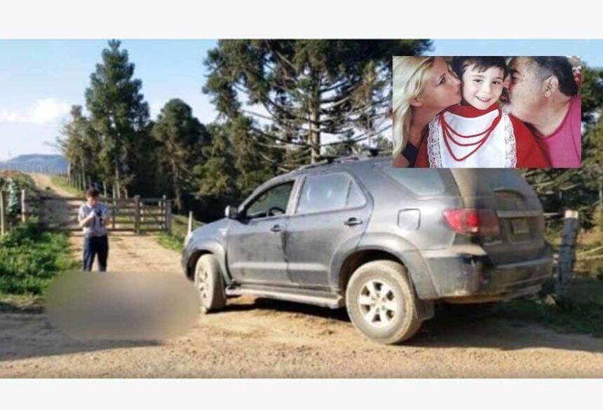 O pai foi assassinado a um quilômetro da entrada da residência, enquanto mãe e filho foram encontrados mortos dentro da casa, na propriedade rural.