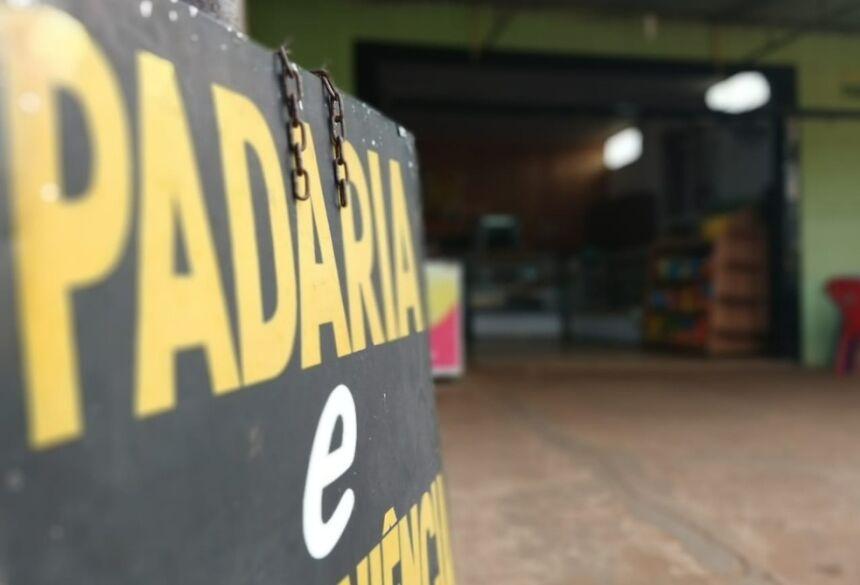 Padaria sofreu tentativa de assalto em MS — Foto: Huanderson Merlotti/TV Morena
