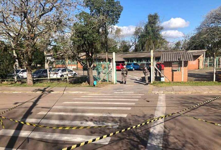 Escola onde aconteceu o ataque em Charqueadas — Foto: Léo Saballa Jr/RBS TV