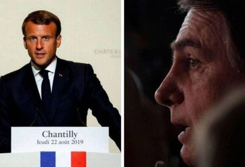 Emmanuel Macron, presidente da França, acusa Jair Bolsonaro de ter mentido sobre compromissos ambientais Foto: Pascal Rossignol / Ueslei Marcelino / AFP / Reuters