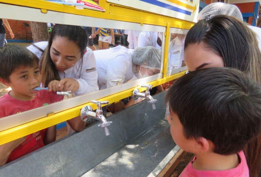 Ação Social UNIGRAN leva diversas atividades no Jardim Guaicurus em Dourados