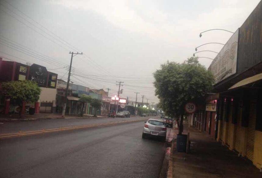 Manhã com o tempo instável em Fátima do Sul (Foto AdeLuz)