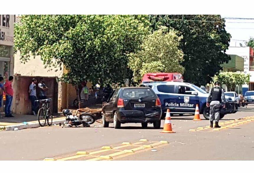 Logo em seguida a Polícia esteve no local para apurar as causas do acidente.Imagem: Rogério Sanches