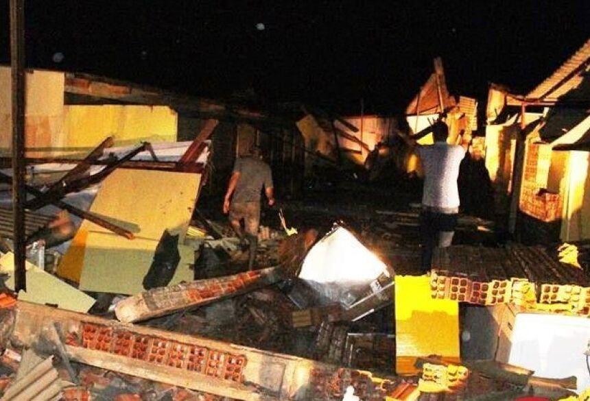 Temporal deixou rastro de destruição em Amambai - Crédito: A Gazeta News