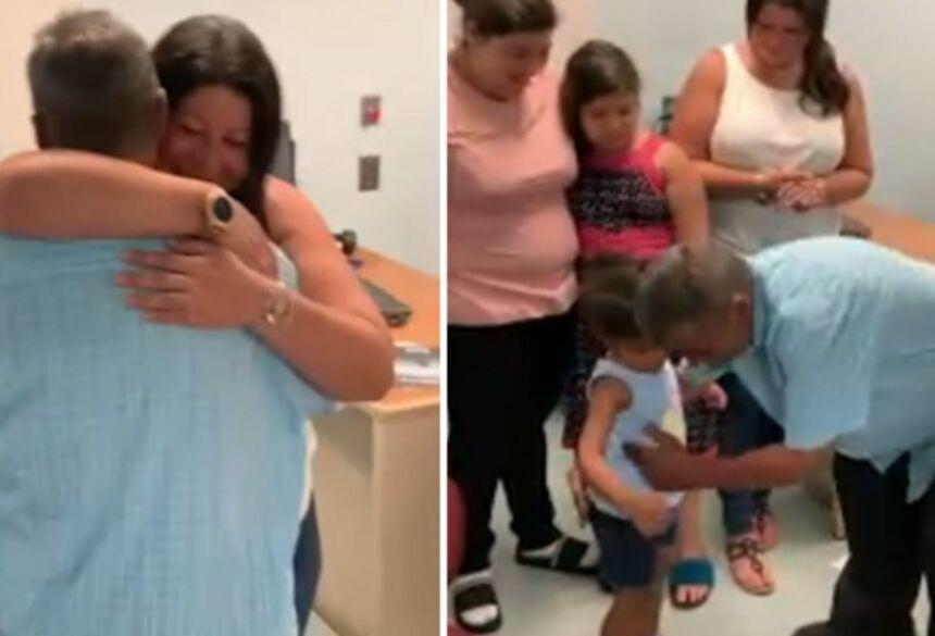 A polícia de trânsito de New Jersey, nos EUA, fez o contato para ajudar a encontrar os parentes dele e conseguiu.