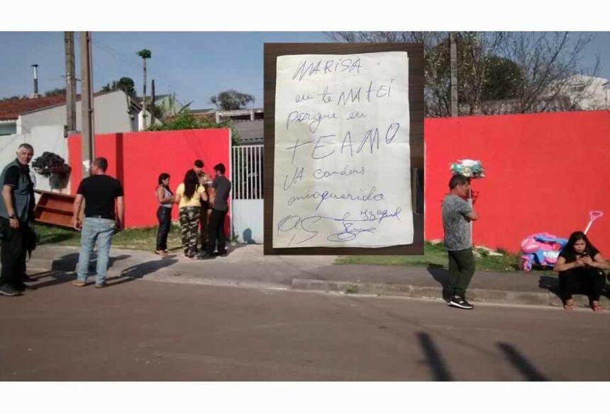 Suspeito de matar mulher em Piraquara deixa bilhete ao lado do corpo: 'eu te matei porque te amo' — Foto: reprodução/ Polícia Civil