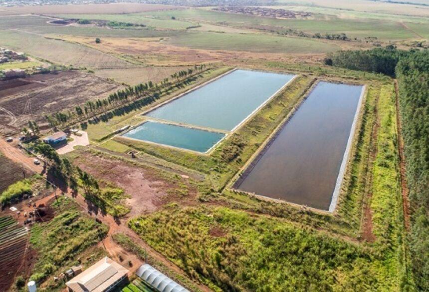 programa de investimentos do Governo do Estado em água e esgoto em Nova Alvorada do Sul.