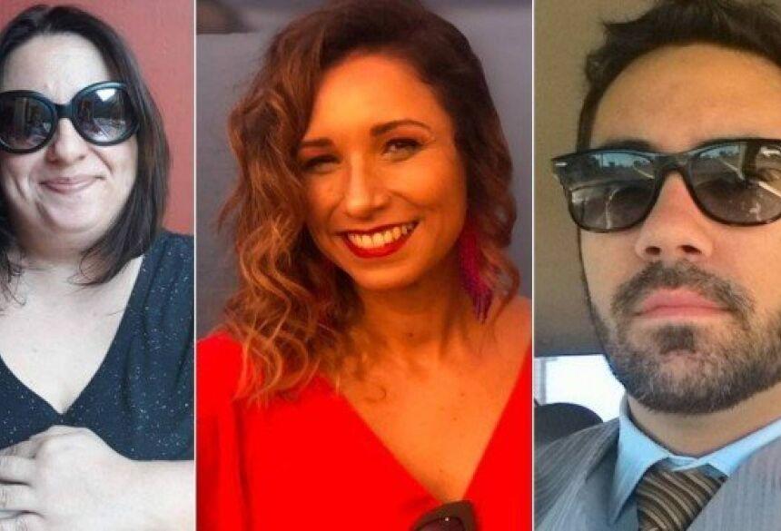 Mayra, Tatá e Fernando passaram sufoco em app de paquera Foto: Arquivo pessoa