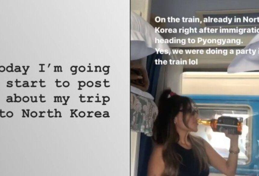 Modelo Liziane Gutierrez visitou a Coreia do Norte Foto: Instagram / Reprodução