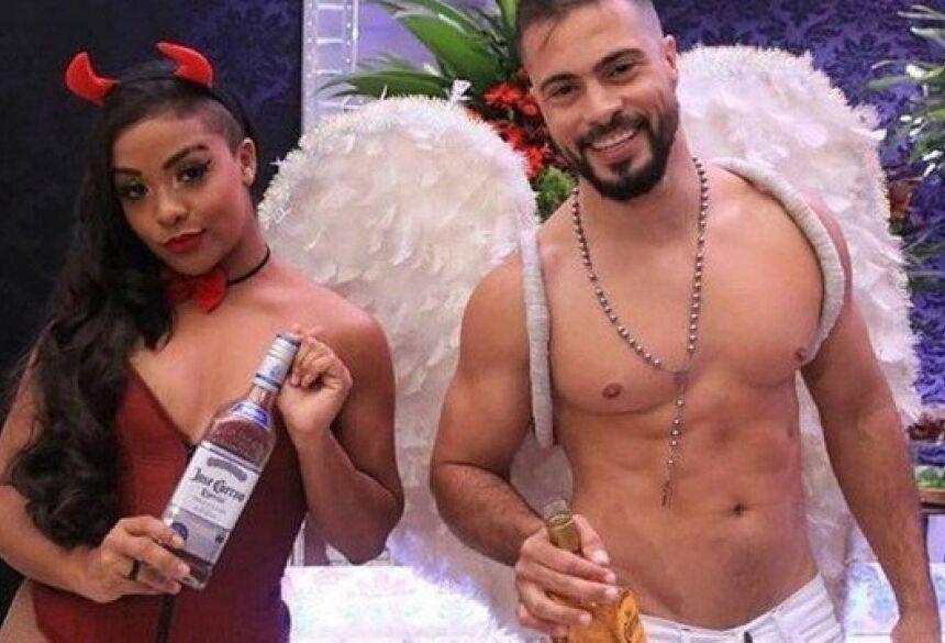 Andreza e Jefferson como tequileiros na festa da OAB Foto: Divulgação/Tais Ramos