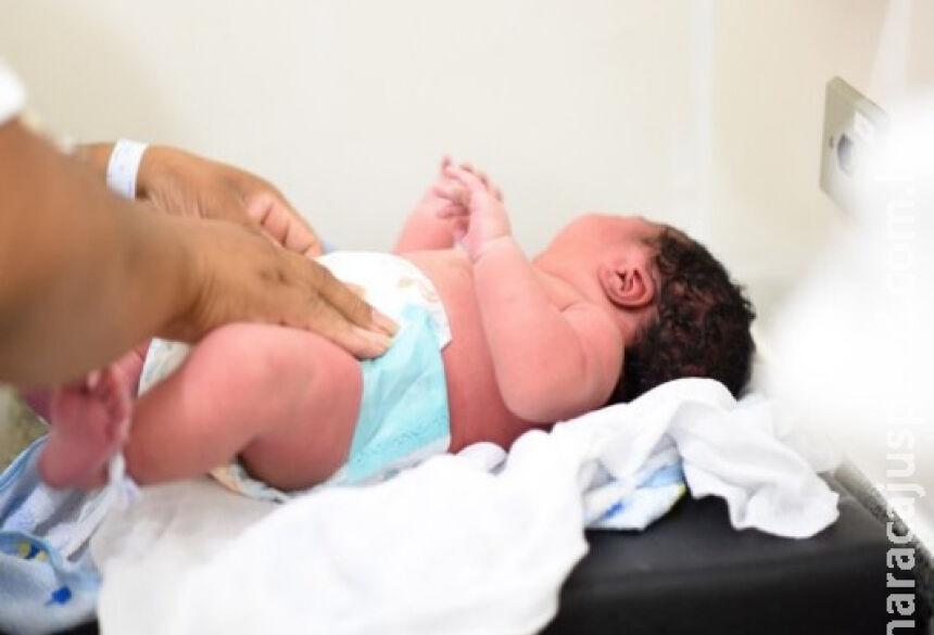 Bebê de 5,5 kg nasce em hospital na fronteira de MS. / Foto: Anna Carolina Gomes Nicacio/Arquivo Pessoal