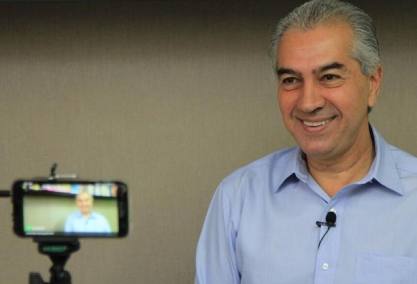 Governador Reinaldo Azambuja em entrevista ao Campo Grande News em 2018, durante rodada com os candidatos ao governo(Foto: Marina Pacheco/Arquivo)