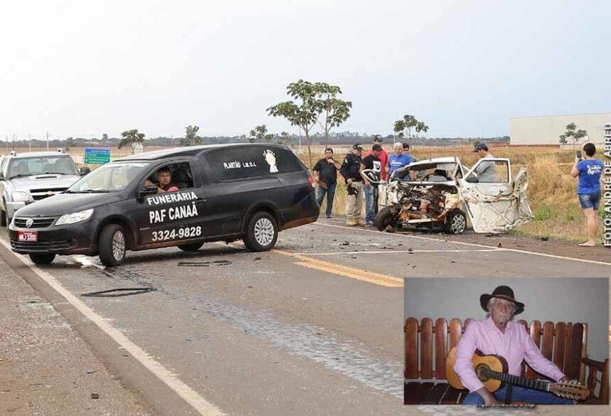 O violeiro perdeu a vida em um trágico acidente de trânsito no início da tarde deste sábado (19), no macroanel, na BR-262 em Campo Grande.