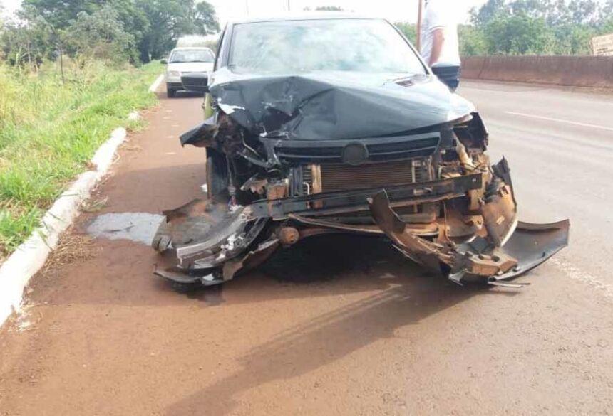 O acidente deixou apenas danos matérias.