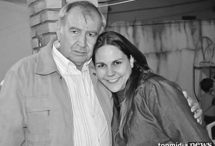 Maina com seu saudoso pai Ney Rodrigues de Almeida