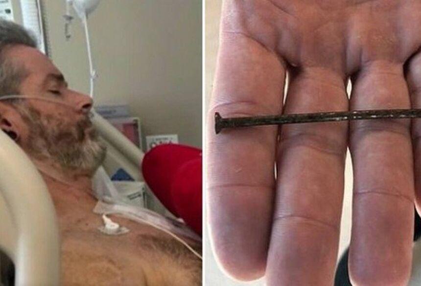 Aaron após cirurgia em hospital no Texas Foto: Reprodução/KSWO; Twitte